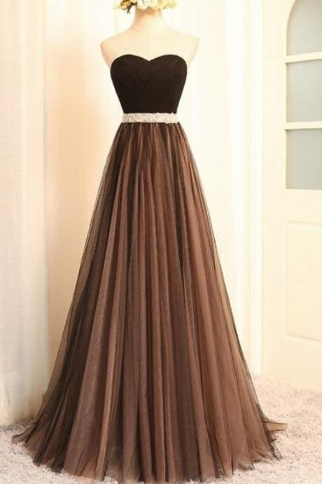 Floor Length dress evening party , Stylish women's wedding gown, A Line Tulle, Formal Evening Gowns Dresses,Elegant lace party dress ,Formal ball gowns